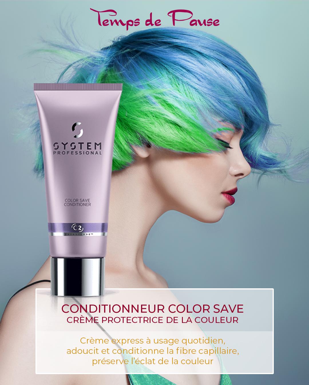 CONDITIONNEUR COLOR SAVE, Crème protectrice de couleur