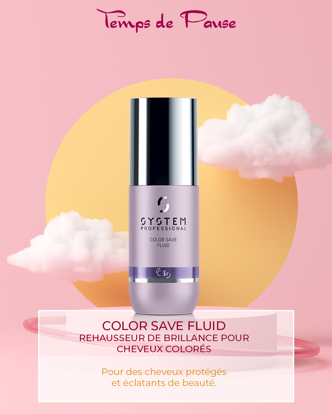 COLOR SAVE FLUID, Rehausseur de brillance pour cheveux colorés